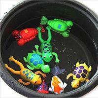 Wholesale Wind Up Christmas Toys - Baby Paddle Wash Bath Bathing Toy Wind-up Animals Toys Christmas Gift