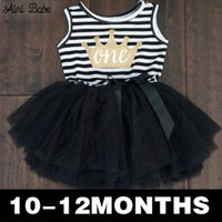 Wholesale Little Princess Baby One Piece - Wholesale- Baby Kid Girl One Piece Dress Striped Bow Summer 2016 Tutu Dress Cute Vest Girls Clothes Little Princess Dress For Infant 0-2Y