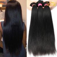 Wholesale 22 Inch Remy Hair Weft - Brazilian Virgin Hair Extension 3 4 5 Bundles Brazilian Peruvian Indian Straight Weave Remy Hair Wholesale Unprocessed Brazilian Human Hair