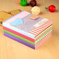 Wholesale Pink Love Paper - Fashion Cartoon Notepads Korean Cute Kawaii love heart Journal Notebooks Student Planner Notepad Korean Stationery Kids Gift 7663