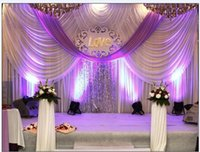 Wholesale Event Backdrop Curtains - 20ft*10ft Luxury Wedding backdrop with swags event and party fabric beautiful wedding backdrop curtains including middle sequin