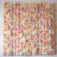 Wholesale 10pcs romantic wedding flower wall for stage or backdrop wedding artificial flower decoration rose hydrangea flower
