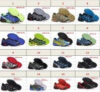Wholesale Salomon Black - Zapatillas White Red Black Fashion RunssalomonSpeedcross3 Running Shoes Men Walking Ourdoor Sport shoes Athletic Shoes