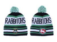 Wholesale Skull Caps Online - NRL Teams Beanie Hat South Sydney Rabbitohs Beanies Wholesale Knit Sports Hats Online For Sale Wool Caps Winter Cap