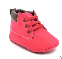 Wholesale Tie Fit Baby - Kids sneaker christmas baby lace-up soft bottom first walker fit 0-12M baby girls boys crib sole footwear children casual shoe R0111