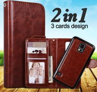 Wholesale good magnets - Good Quality 2 in 1 Magnetic Magnet Detachable Removable Wallet Leather Retro case Cover For iPhone X 8 7 6 Plus Samsung Note 8 S8 Plus