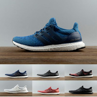 Wholesale Man Casual White Canvas Shoes - (with box) Ultra Boost 3.0 Triple Black White Primeknit Oreo CNY Blue Men Women Running Shoes Ultra Boosts ultraboost Casual sports Sneaker