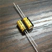Wholesale Electrolytic Capacitor 25v - Wholesale-10pcs 47uF 25V NICHICON FG (Fine Gold) 6.3x11mm 25V47uF High Grade Audio Capacitor