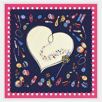 Wholesale Silk Square Neck Scarves - Wholesale- LESIDA 100% Twill Silk Warmer Neck Scarf Woman,Small Square Colorful Girls Bag Handle Wrap,Fashion Printed Head Bandana 6016