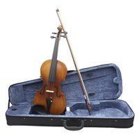 Picea Asperata case violin strings - Full Size Violin Fiddle Solid Wood Ebony Fretboard Spruce Face Board String Instrument with Case Bow Rosin Clean Cloth