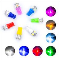 Wholesale Wholsale Lights - wholsale 300pcs Colorful T10 5 SMD 5050 LED 194 168 W5W Car Side Wedge Tail Light Lamp Bulb car Parking led License Plate Lights