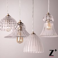 New Light Art Deco Lampara de vidrio Luz Colgante Restaurante Cafetera Dormitorio Sala de estar Vintage Style Lamp