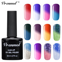 Wholesale Temperature Changing Nail Varnish - Wholesale-Vrenmol 1pcs Temperature Change Nail Mood Color UV Polish Soak Off 29 Colorful Verniz Lacquer Thermo Varnishes