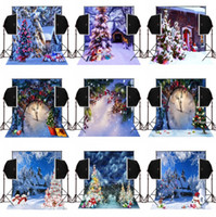 Wholesale Christmas Tree Spray - 5x7FT snow scenic christmas tree house background for photos studio photography backdrops camera fotografica digital cloth vinyl backdrop