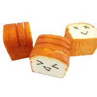 almofadas jumbo venda por atacado-Novo Jumbo Squishy Expressão de Chocolate Mão Travesseiro Pão Toast Phone Straps Toy Presente Collectibles Com Tag Squeeze Toy
