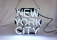 "Wholesale office city - Fashion New Handcraft Neon sign "" New York NY City "" Real Glass Tubes For Bedroom Home Display neon Lighht sign 10x10!!!"