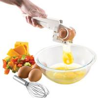 Wholesale white egg separator for sale - Group buy Egg Tools EZ CRACKER Egg Separator Dividers Popular Manual Eggs Cutter Holder The Cheapest Kitchen Tools cm