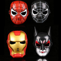 Wholesale Iron Spiderman Costume - Party Mask Super Hero Movie Star Mask Venetian Unisex Sparkle Masquerade Venetian Spiderman Iron man Masks Mardi Gras Costume 170821