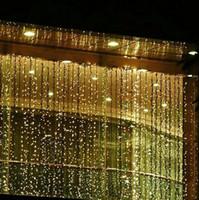 cortinas de cachoeira venda por atacado-RGB 300 LEDS 3 M * 3 M Levou Cachoeira Luz Da Corda Ao Ar Livre Festa de Casamento de Natal Do Feriado Do Jardim Luzes LED Cortina Decoração AC110V-250V