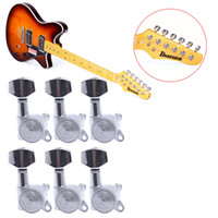 Wholesale Locking Guitar Tuner Keys - Wholesale- 6pcs Guitar String Tuning Pegs Locking Tuners Keys Machine Heads Chrome