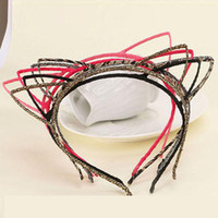 Wholesale Cheapest Slimming - 2017 Fashion Cat Ears Hair Bands Jewelry Womens Girls Slim Headbands 30pcs  Lot The Cheapest Hair Bands