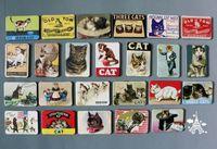 Wholesale Wholesale Refrigerator Magnet - sticker home home decoration 24 PCS cartoon cat refrigerator fridge magnets set animal cat designs magnetic stickers free shipping