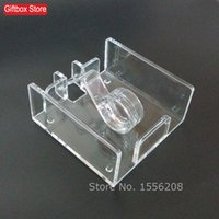 Wholesale plastic acrylic sheets - Wholesale- Modern Style Acrylic Napkin Box Tissue Holder 16*16cm Tissue Sheet Paper Rack Wedding Party Supplies Free Shipping