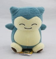 """Wholesale Pokemon Dragonite Toy - Poke Doll Pikachu Snorlax Dragonite 6"""" 15cm Plush Doll Stuffed Toy Animals For Baby Best Gifts -D028"""