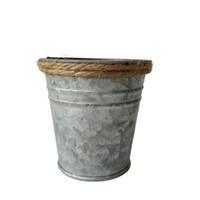 kindertöpfe freies verschiffen großhandel-D7 * H7CM geben Verschiffen-Großhandelsreine Zinnkasten Minisaftige Pflanzerblumentopf-Pflanzer mit Seil Balkon-kleinem Kindertopf frei