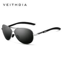 gafas veithdia al por mayor-VEITHDIA Nuevo Polarizado Hombres Gafas de Sol Diseñador de la Marca Gafas de Sol Gafas de Sol uv400 Gafas gafas de sol para Hombres 3088