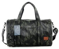 Wholesale Outlet Leather Bags - Factory outlet brand mens bag Camo high-capacity portable satchel leisure travel bag Korean fashion camouflage leather hand bag