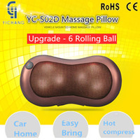 Wholesale Knead Massager - Infrared Heating Car Home Full Body Head Back Neck Rolling Kneading Massager shiatsu Infrared Massage Pillow & Cushion With Heat