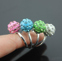 Wholesale Disco Ball Rings - Shamballa Crystal Disco Ball Rings 13 mm Rhinestone Ball Ring Fashion Women Jewelry Rings High Quality Free Shipping