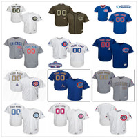 Wholesale New Personalized - Custom New World Series Champions Patch Chicago Cubs Gold Gray White Blue Authentic Stitched Personalized Baseball Jerseys Customized S-4XL