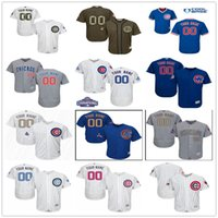 blue cubs - Custom New World Series Champions Patch Chicago Cubs Gold Gray White Blue Authentic Stitched Personalized Baseball Jerseys Customized S XL