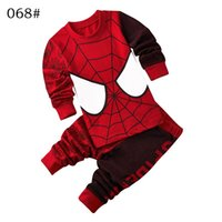 Wholesale Minion Baby Pajamas - Baby Girl Cartoon Superman Pijamas Boy Spiderman BatMan Pyjamas Sleepwear Children Clothing Sets Kids Minions Pajamas