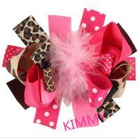 Wholesale Marabou Hair Bows Wholesale - 100pcs lot hair Bow, Girls Hairbows, 5 Inch hair Bow, Marabou Puff Hair Bow
