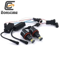 Wholesale Bmw E92 Headlight - Eonstime 2Pcs 40W H8 Cree LED Chips HID Headlight 6000k Angel Eyes For BMW E60 E61 E63 E64 E70 X5 E71 E82 E87 E89 E90 E91 E92