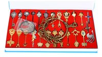 Wholesale Lucy Fairy Tail Cosplay - 25 lot Fairy Tail keys Lucy star key Animation Gray Necklace Fairy Tail Magic make Lucy Star spirit Lucy Cosplay Cartoon toys