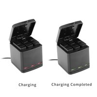 Wholesale Telesin Gopro - TELESIN 3-Way Charger Charging Box Carryiny Storage Case 2 in 1 + 3pcs Replacement Battery Pack for GoPro Hero 5 Accessories