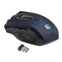 pc wifi inalámbrico usb al por mayor-Al por mayor-Wireless Gaming Mouse 6 Keys 2.4GHz 2000DPI USB Mini portátil Optical Computer Game Mouse WIFI Ratón inalámbrico para PC portátil