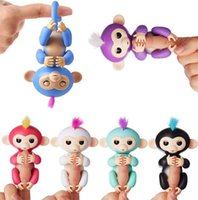 Wholesale Educational Electronic Toys For Children - Colorful Finger Monkey Fingerlings Monkey 6 Colors Electronic Smart Touch Fingers Monkey For Child Adult Toys OTH609