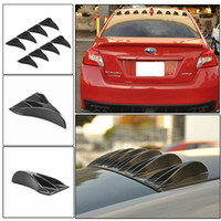 Wholesale 8 Carbon Fiber Look Universal Vortex Generators Roof Shark Fins Spoiler Wing Kit Black for Car Truck SUV
