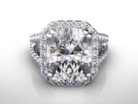 Wholesale Wedding Proposal Rings - WOMEN DIAMOND RING HALO 5.5 CT 14K WHITE GOLD PROPOSAL VVS1 D