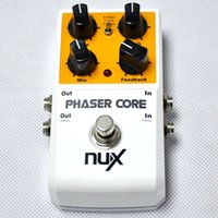 Wholesale Guitar Locks - NUX Phaser Core Phase Shifter Modulation Stomp Effect Pedal Tone Lock Preset Function True Bypass top guitar pedals