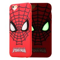 Wholesale Spider Man 3d Cases Iphone - Cute Cartoon Lovely Minions Baymax Spider-man Case For iphone 5 5s 6 6s 7 Soft TPU 3D Luminous back Cover For iphone 6 7 Plus Accessories