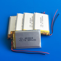 Wholesale Ion Bluetooth - Wholesale 3.7V 600mAh Lithium Polymer LiPo Rechargeable Battery 403048 li ion cells For Mp3 MP4 MP5 GPS PSP Pocket E-books bluetooth 4*30*48