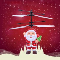 Mejor Helicóptero Baratos-Navidad Santa Claus Flying Induction Aircraft Version Induction Toys Magic Helicopter Flying Aerocraft Toys Regalo de Navidad El mejor