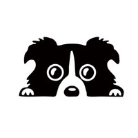 Wholesale Decal Borders - 2017 Hot Sale Personality Style Border Collie Dog Pet Decal Car Sticker Vinyl Decals Car Accessories Jdm