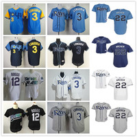 blank white - Tampa Bay Rays Baseball Jerseys Evan Longoria Chris Archer Blank Wade Boggs Throwback Blue White Gray Jersey
